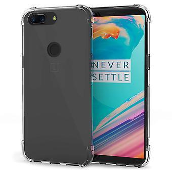OnePlus 5T fall, reptålig - för Ultra Slim- och Lightweight - inga skrymmande - TPU Gel-mjuk tunn silikon tillbaka täcker - klart