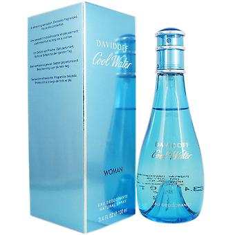 Cool Water for Women by Davidoff 3.4 oz Deodorant. Spray