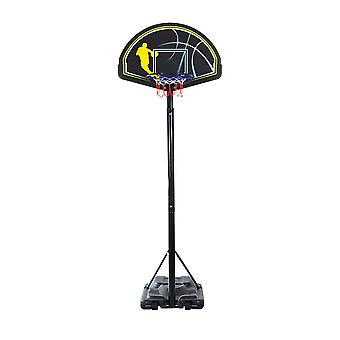 Homcom Portable Free Standing Basketball Stand Backboard Outdoor Sports Height Adjustable (2.45m-3.05m) w/ Wheel