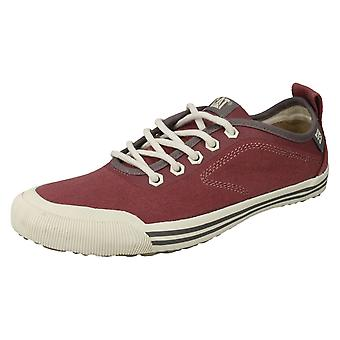 Ladies Caterpillar Lace Up casual Shoes Alias Canvas