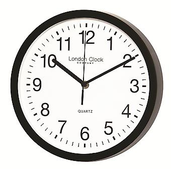 Black Wall Clock with Sweeping Hands