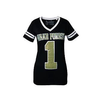 Wake Forest Demon Diakone NCAA Pressefach V-Ausschnitt Jersey T-Shirt