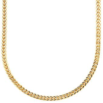 Sterling 925 Silver bling Frankish chain - 3x3mm gold