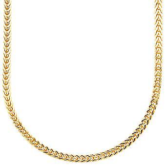 Sterling 925er Silber Bling Francokette - 3x3mm gold