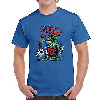 Rotte Fink jeg fanget øjeæblet mænds kongeblå T-shirt