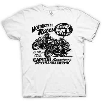 Camiseta mujer-Classic Bike moto Race