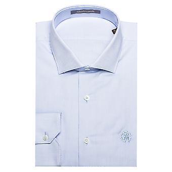 Roberto Cavalli mænd 's sprede krave bomuld Dress Shirt lyseblå