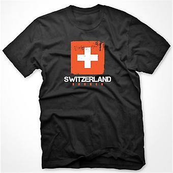 سويسرا لكرة القدم تي شيرت (أسود)