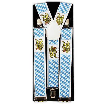 Parentesi graffe Oktoberfest bavarese blu e bianco diamante modello