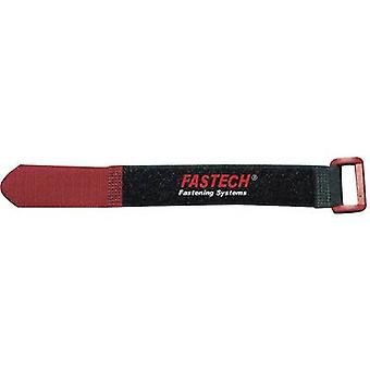 Hook-and-loop cable tie with strap Hook and loop pad (L x W) 335 mm x 25 mm Black, Red Fastech 924-330C 2 pc(s)