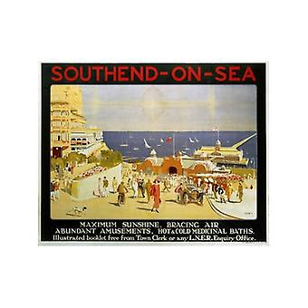 Southend maximaal Sunshine (oude spoor Ad.) Fridge Magnet