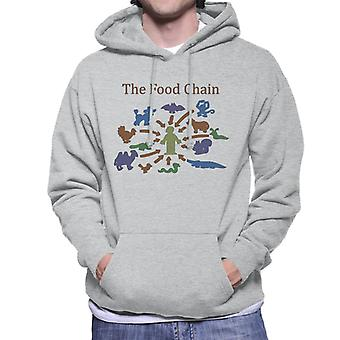 The Food Chain Ends With Man Men's Hooded Sweatshirt