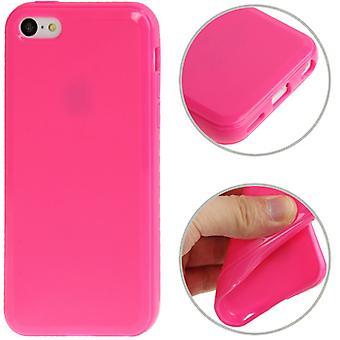携帯電話アップル iPhone 5 C ピンク保護ケース TPU