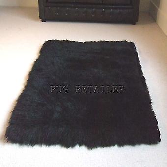 Rugs - Oblong Sheepskin In Black