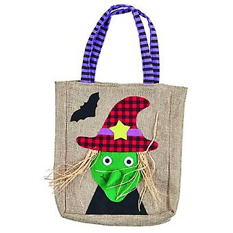 Halloween jute bag witch 25 x 20 cm trick or treat accessory collection