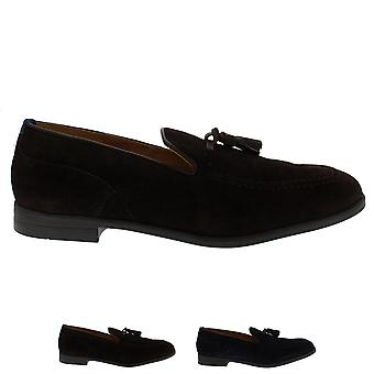 Mens H By Hudson Dickson Suede Smart Office Work Flat Casual Loafer Shoe
