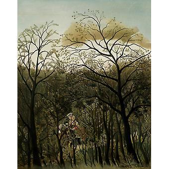 L'appuntamento nella foresta, Henri Rousseau, 50x40cm
