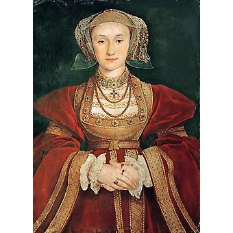Anne de Cleves reine d'Angleterre, Hans Holbein, 40x60cm with tray