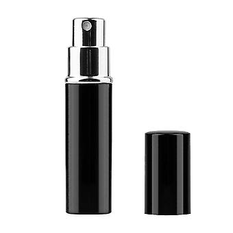 TRIXES 5ml Easy Fill Travel Perfume Aftershave Atomiser Spray Bottle Black