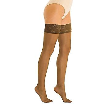 Solidea Marilyn 140 Sheer Support Thigh Highs [Style 280A4] Visone (Light Brown)  L