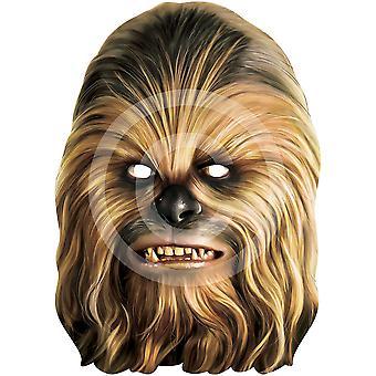 Máscara de la cara tarjeta de Chewbacca