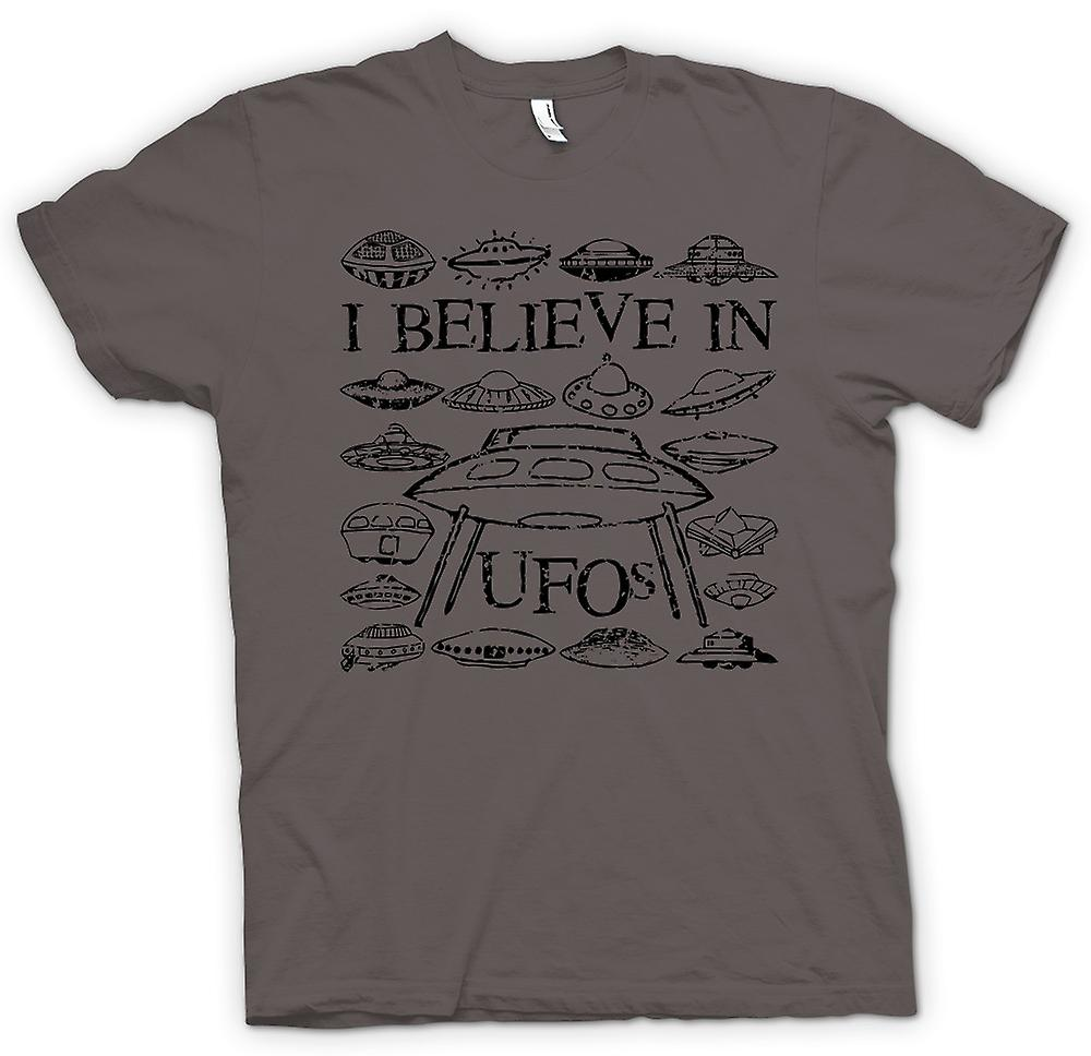 Womens T-shirt - I Believe In UFOs - Funny