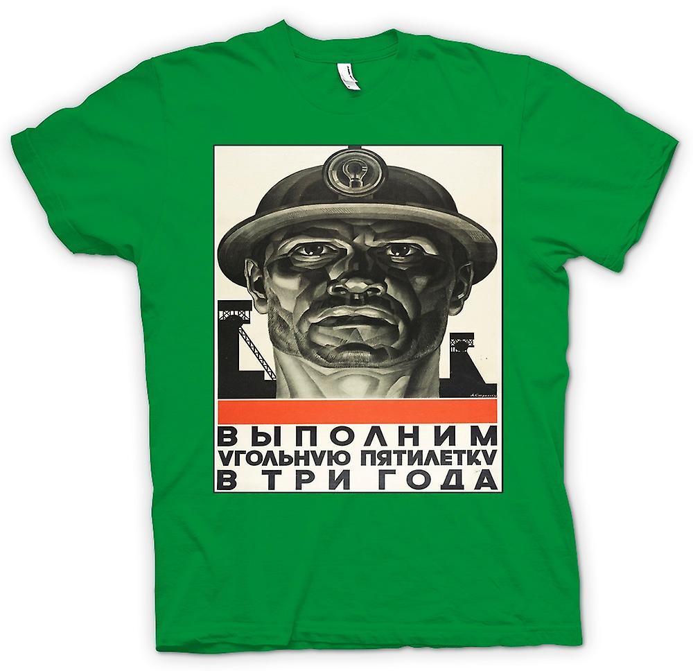 Mens t-shirt - minatore russo Propaganda - Poster