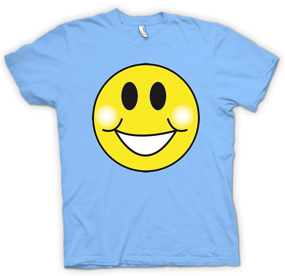 Mens T-shirt - Smiley Face - Chubby Cheeks - Acid House