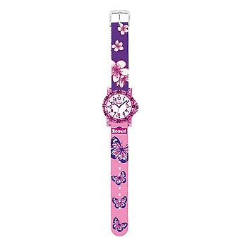 Scout Kinder Uhr Lernuhr IT-Collection - Butterfly Mädchen 280375013