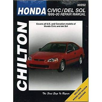 Honda Civic/Del Sol 1996-2000 (Chilton Total bil vård bilreparationer manualer)