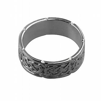 Platinum 6mm Celtic Wedding Ring Size Q