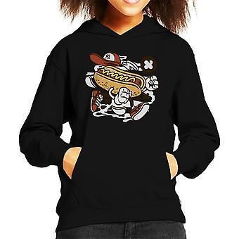 Walking Hot Dog Kid's Hooded Sweatshirt
