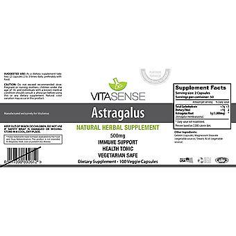 VitaSense Astragalus 500 Mg - supporto del sistema immunitario - Veg 100 capsule