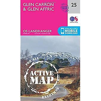 Glen Carron & Glen Affric (OS Landranger Map)