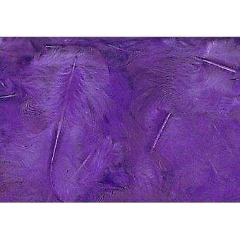 5g Purple Fluffy Craft Feathers | Scrapbooking Card Making Embellishments