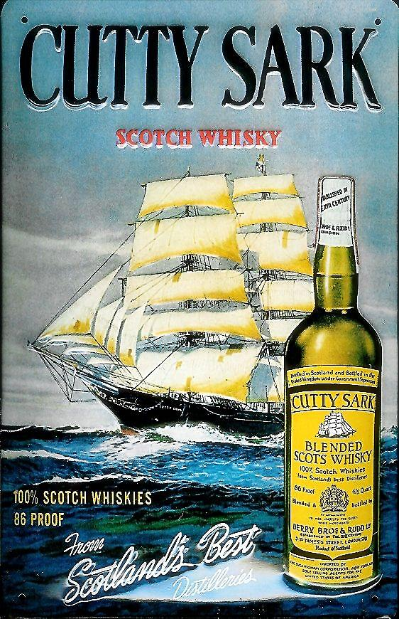 Cutty Sark Scotch Whiskey embossed steel sign   (hi 3020)