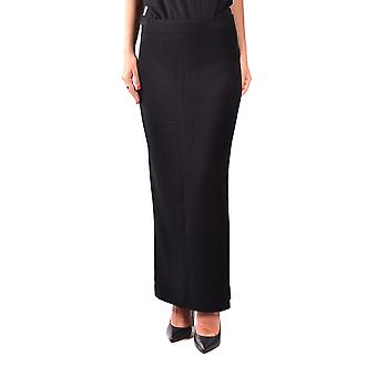 Fabiana Filippi Black Wool Skirt