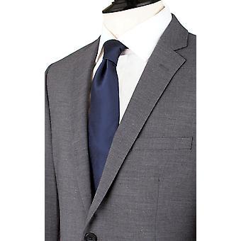 دوبيل رجالي رمادي القرش بدلة سترة مصممة تناسب الشق طية صدر السترة