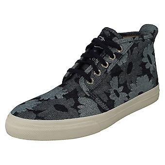Mens Sperry Top-Sider Hi Top Trainers Cloud Chukka Jacquard