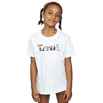 Looney Tunes meninas Sylvester cor código t-shirt