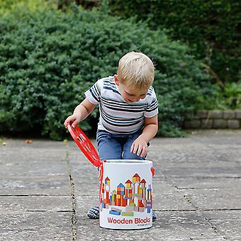 Set Classic World - 100 Stück Holz Bausteine Lernspielzeug für Kinder