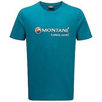 Montane Zanskar Blue Mens Montane Logo T Shirt