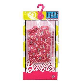 أزياء باربي اللباس الوردي مع مثلثات