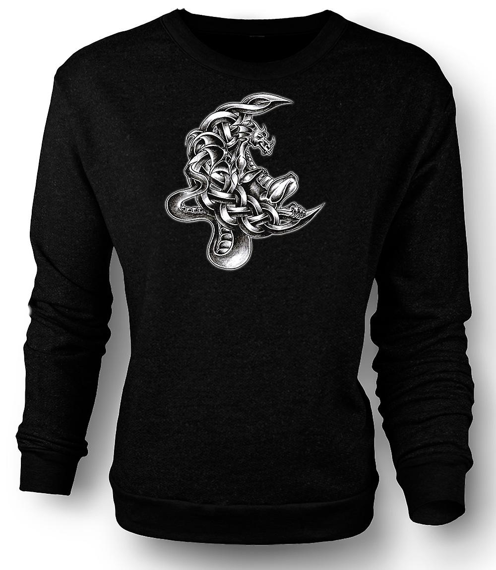 Mens Sweatshirt dragen tatovering - Design skisser
