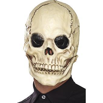 Totenkopf Maske beweglicher Kiefer Schädel Halloween