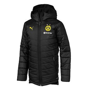 2019-2020 Borussia Dortmund Puma Reversible Bench Jacket (Black)
