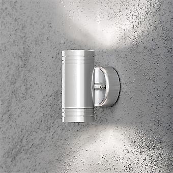 KONSTSMIDE 7904 moderno Monza alluminio doppio LED Light Outdoor Wall