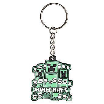 Key Chain - Minecraft - Creeper Rush - Rubber PVC j8323