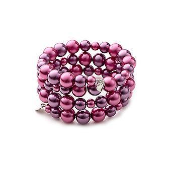 3 ranks in Roses pearls bracelet and Rhodium plate
