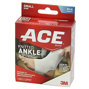 3m ace brand knitted ankle support, small, mild support, 1 ea